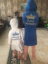 Комплект махровых халатов для братьев